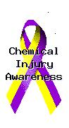 Chemical Injury Awareness Pin info